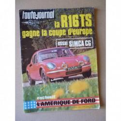 Auto-Journal n°10-71, Simca CG 1200, Berliet TR300 GXO, Peugeot 504, Volkswagen K70, Chrysler 180