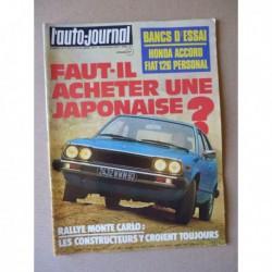 Auto-Journal n°3-77, Honda Accord 1600, Fiat 126 Personal, Subaru 1400 4x4, Jeep Suzuki LJ50, Datsun Violet