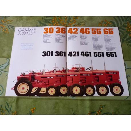 Renault 301 361 421 461 551 651 gamme, catalogue brochure dépliant