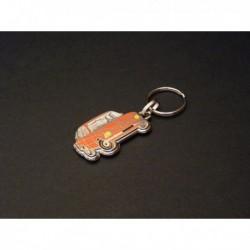 porte-clés émaillé BMW 2002 ti, tii, turbo, 2002ti, 2002tii, Alpina (orange)