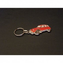 porte-clés émaillé Citroën 2cv, 2cv4, 2cv6, Spécial, Club (rouge)
