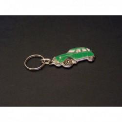 porte-clés émaillé Citroën 2cv, 2cv4, 2cv6, Spécial, Club (vert)