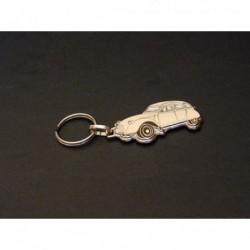 porte-clés émaillé Citroën 2cv, 2cv4, 2cv6, Spécial, Club, AZAM (beige, crème)