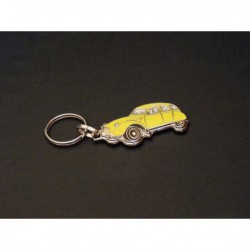 porte-clés émaillé Citroën 2cv, 2cv4, 2cv6, Spécial, Club, 007 (jaune)