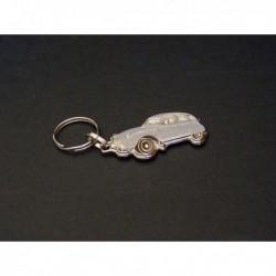 porte-clés émaillé Citroën 2cv, 2cv4, 2cv6, Spécial, AZ, AZAM, AZL (grise)