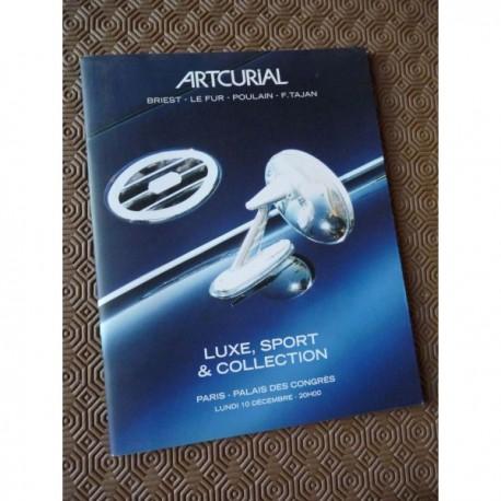 catalogue Artcurial 2007, Automobiles Luxe Sport Collection, enchères sale