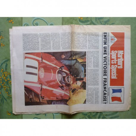 Malboro Sports Special Grand Prix de France 1974, catalogue brochure journal