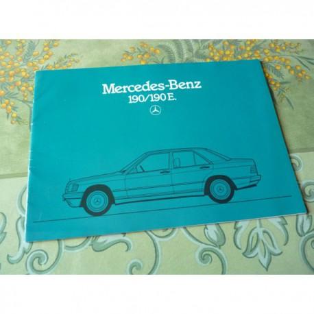 Mercedes 190 190E w201, catalogue brochure dépliant