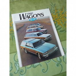 Chevrolet Wagons 1980, Caprice Impala Malibu estate, catalogue brochure dépliant