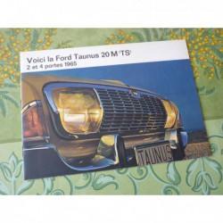 Ford Taunus 20M TS 20MTS, 1965, catalogue brochure dépliant