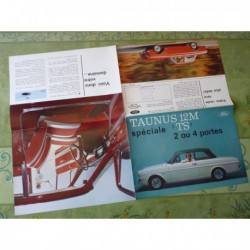 Ford Taunus 12M TS 12MTS, catalogue brochure dépliant