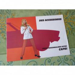 Ford Capri accessoires, catalogue brochure dépliant