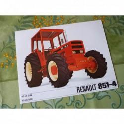 Renault 851-4, catalogue brochure dépliant