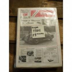 LVA La Vie de l'Auto 1985, 15 numéros