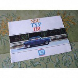 NSU Typ 110, 1100 1200 cm3, catalogue brochure dépliant