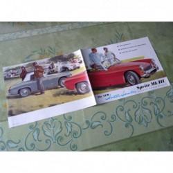 Austin Healey Sprite MkIII mk3, catalogue brochure dépliant