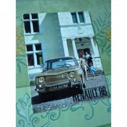 Renault 8 R8, catalogue brochure dépliant