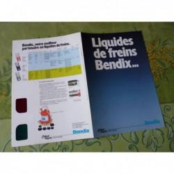 Bendix liquide de freins, lunette 3D, catalogue brochure dépliant