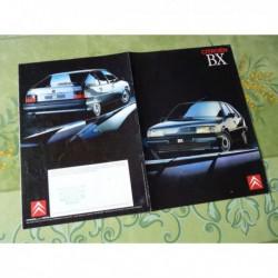 Citroën BX, nouveau départ, catalogue brochure dépliant