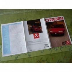 Citroën BX GTI 16 soupapes, catalogue brochure dépliant