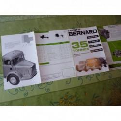 Bernard camions TD TDA 150 180 160, catalogue brochure