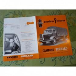 camions Bernard 9T 90cv, catalogue brochure