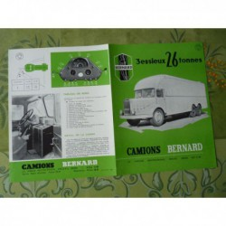camions Bernard 26T 12cv 150cv, catalogue brochure
