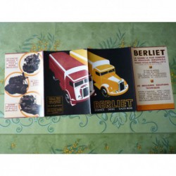 camions gamme Berliet 1936, catalogue brochure