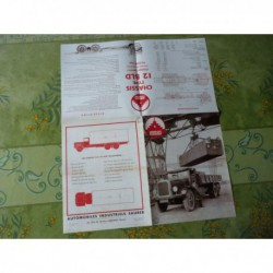 camions Saurer 12 BLD, 12 BUD 14T, catalogue brochure