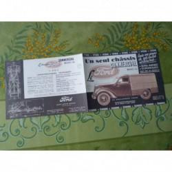 Ford 600kg F472C, boulangère tolée pick-up ambulance, catalogue brochure
