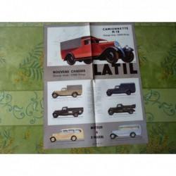 camions Latil M1B gamme, catalogue brochure
