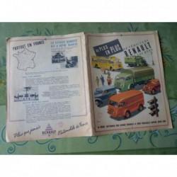Renault gamme utilitaire après-guerre, juvaquatre 1000kg 2T, catalogue brochure