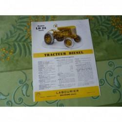 tracteur Labourier LD25 Diesel, catalogue brochure