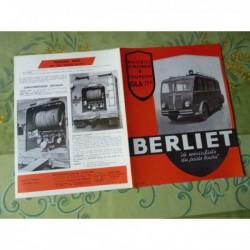 camion Berliet GLA 19C, catalogue brochure