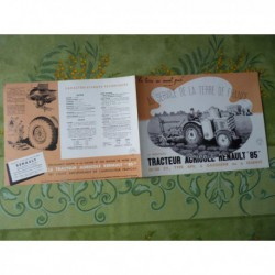 tracteur Renault 85 gazogène ou essence, catalogue brochure