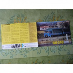 Renault Saviem SM240, catalogue brochure