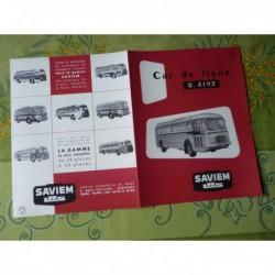 autocar Saviem R4192, catalogue brochure