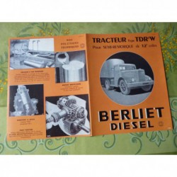 camion Berliet TDR 7W, catalogue brochure