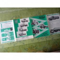camion Willème LD610 T et TBH 35T, catalogue brochure LD 610