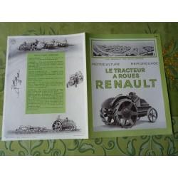 tracteur Renault à roues fer Type HO, catalogue brochure