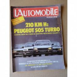 L'Automobile n°442, Renault 11 Electronic, Peugeot 505 Turbo, BMW 323i, Audi 80 Quattro, Mitsubishi Galant Turbo