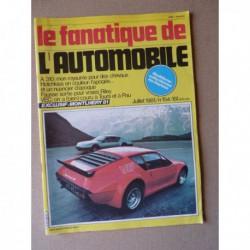 Le Fanatique n°154, Lancia Lambda, Alpine A310, Riley, Hotchkiss 1903-53, Talbot T150, Ferrari 365 GTB/4