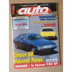 Auto Passion n°115, Citroën SM, Maserati Merak, Ferrari F50, Grand Prix Monza 1967, John Surtees, Jess Pourret GTO