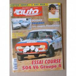 Auto Passion n°129, MG J25 Midget, Peugeot 504 Coupé V6 Gr.4, Gérard Welter Peugeot, Oxia