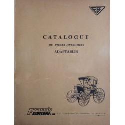Francis Brun, catalogue pièce détachées adaptables 1967