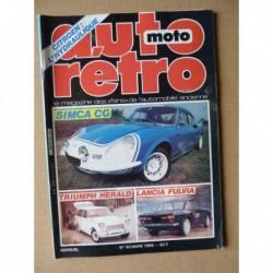 Auto Rétro n°55, Kaiser Frazer, Lancia Fluvia coupé, Stratos, Sport Zagato, Simca CG, Triumph Hérald, Triumph T100