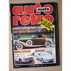 Auto Rétro n°59, Auburn 851, Hispano Suiza, Simca Océane, Jaguar 340, Porsche 928S, Reyonnah 1950, Triumph Spitfire