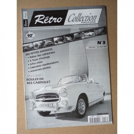 Rétro Collection n°3, Peugeot 403 cabriolet