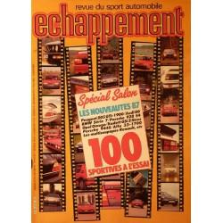 Échappement n°216, 100 sportives à l'essai, Salon 1986