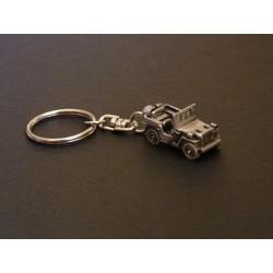 Porte-clés Jeep Willys et Ford, en étain 1/112e